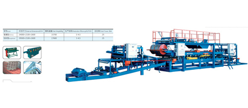 WCJ Horizontal Color Steel Sandwich Panel Compounding Machine
